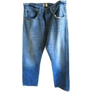 Levi's unisex 501 Light Blue Straight Leg Jeans